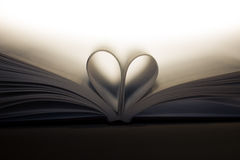 Book with heart. Neutral background Royalty Free Stock Image