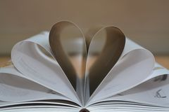 Book. Heart page Royalty Free Stock Images