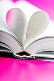 Book heart Royalty Free Stock Photos