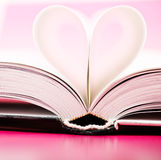 Book heart Stock Images