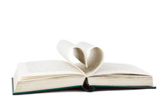 Book and heart shaped pages Royalty Free Stock Photography