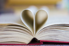 Book with heart shaped pages Royalty Free Stock Photos