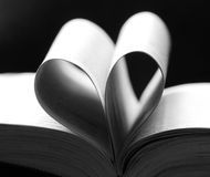 A book heart shaped Stock Images