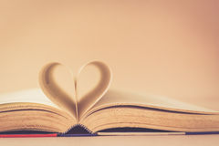 Book with heart sign Royalty Free Stock Photo
