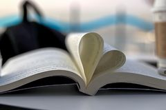 Book and Heart Sing. Heart symbol Royalty Free Stock Photos