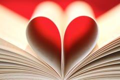 book hjärta Arkivfoton