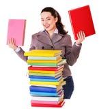 book holdingkvinnan royaltyfri fotografi