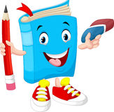 Book holds a pencil and eraser Royalty Free Stock Image
