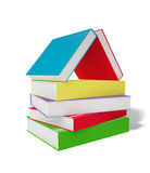 The Book House. Colorful books stack – educations concept image. Clipping paths included Vector Illustration