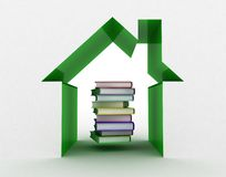 The book and the house conceptually Royalty Free Stock Image