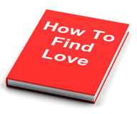 Book On How To Find Love. Red Book On How To Find Love Stock Photo