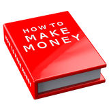Book how to make money   on white background Royalty Free Stock Photography