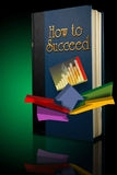 Book how to succeed. Back lit book entitled How to Succeed Stock Image