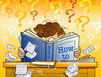 book, hur lära till Arkivfoton