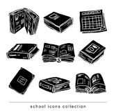 Book icon, Back to school, icons, vector illustration. Book icon, Back to school, icons, vector illustration Stock Photography