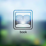 Book icon.  on background blurred Stock Photo