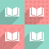 Book icon on colorful backgrounds Stock Photo