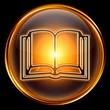 Book icon golden. Stock Photography