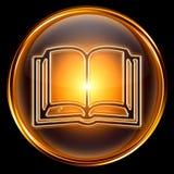 Book icon golden. Stock Photography