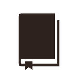 Book icon. Isolated on white background Royalty Free Stock Images