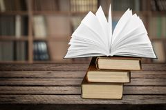 Book. Icon open boards studying literature closeup Stock Photo