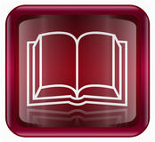 Book icon red Stock Image