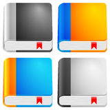 Book icon set Stock Image