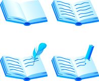 Book icon set. Royalty Free Stock Photos