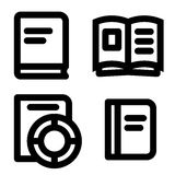 Book icon set Royalty Free Stock Images