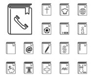 Book icon set royalty free illustration