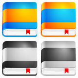 Book icon set Royalty Free Stock Photography