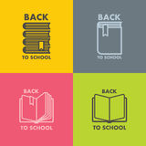 Book icon set for school vector Stock Photography
