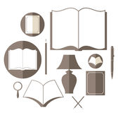 Book. Icon set Royalty Free Stock Image