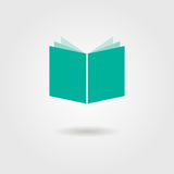 Book icon with shadow. Logo design modern vector illustration Royalty Free Stock Image