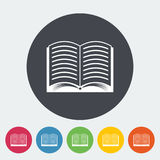 Book icon. Book. Single flat icon on the circle. Vector illustration Royalty Free Stock Photos