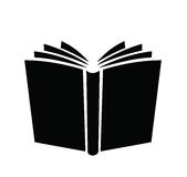 Book icon. Vector black book icons set on white Royalty Free Stock Photo