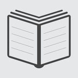 Book Icon vector flat. Illustration Royalty Free Stock Photos