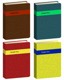 Book icons. Set of different colors vector book icons Royalty Free Stock Photo