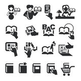 Book icons. Authors illustration in Royalty Free Stock Images