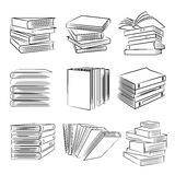 Book icons. Collection of book icons in white background Royalty Free Stock Photography