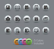 Book Icons// Pearly Series Royalty Free Stock Photos