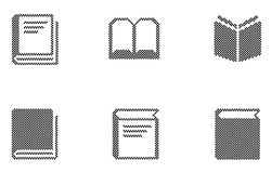 Book icons Royalty Free Stock Photo