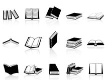 Book icons set. Isolated book icons set from white background Royalty Free Stock Images