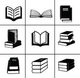 Book icons set. Royalty Free Stock Photos