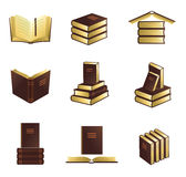 Book icons set. Stock Photos