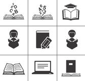 Book icons set. Stock Photography