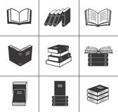 Book icons set. vector illustration