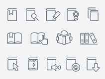 Book icons set Royalty Free Stock Photo