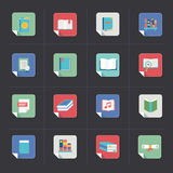 Book icons Stock Photography