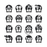 Book icons set. Authors illustration in Stock Photography